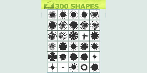 300 Custom Shape Stars