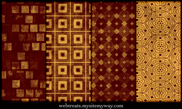 Grungy Fiery Red Seamless Patterns