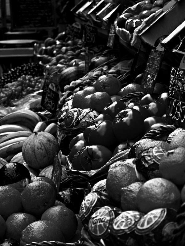 Fruits - Black&White (High Contrast)