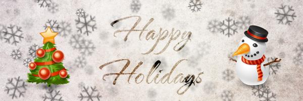 Last-minute Happy Holidays