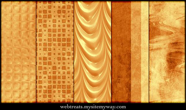 Warm Amber Patterns
