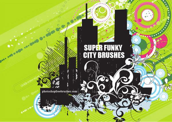 Funky City Skyline