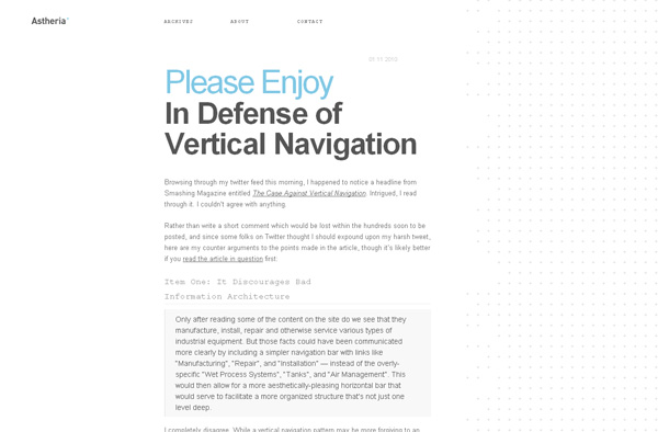 In Defense of Vertical Navigation
