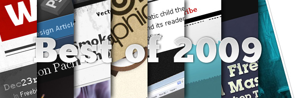Best of 2009 – Articles, Tutorials, Freebies and Web Sites