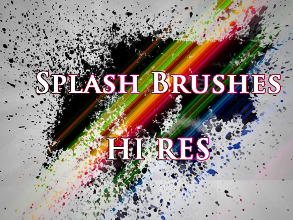 Splatter Brushes (Hi-Res)
