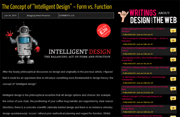 "The Concept of ""Intelligent Design"" - Form Vs. Function"
