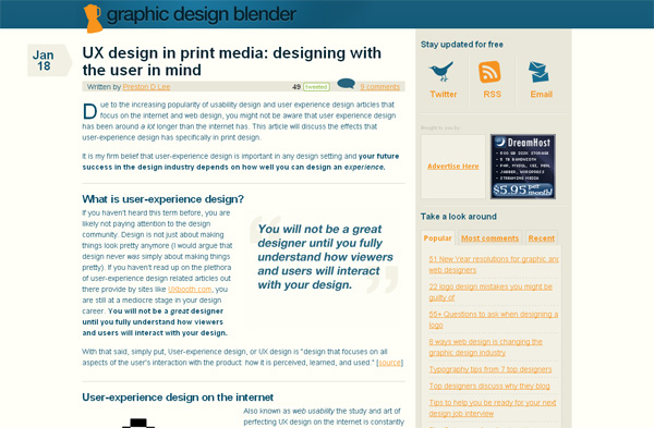 UX design in print media: designing with the user in mind
