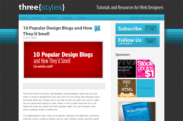 10 Popular Design Blogs and How They'd Smell