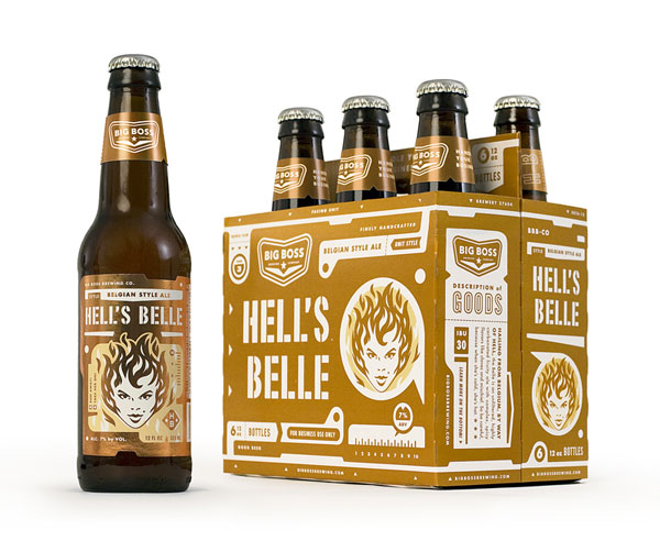 Big Boss Brewing - Hell's Belle Bottle and Package