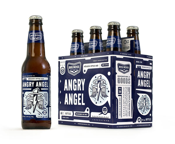 Big Boss Brewing - Angry Angel Bottle and Package