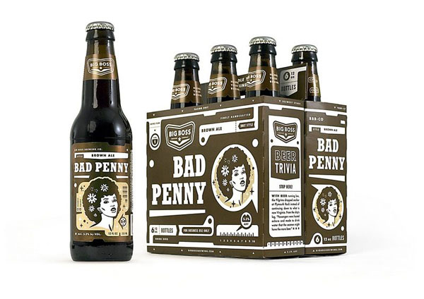 Big Boss Brewing - Bad Penny Bottle and Package