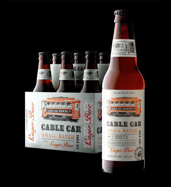 Cable Car Brewing Bottle and Packaging