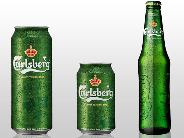 Carlsberg Bottle and Cans