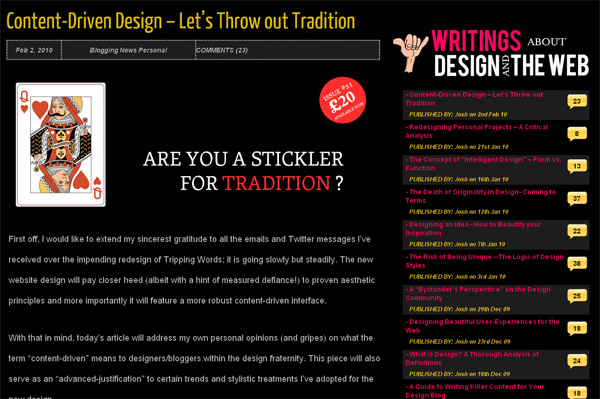 Content-Driven Design - Let's Throw out Tradition
