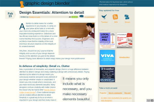 Design Essentials: Attention to Detail