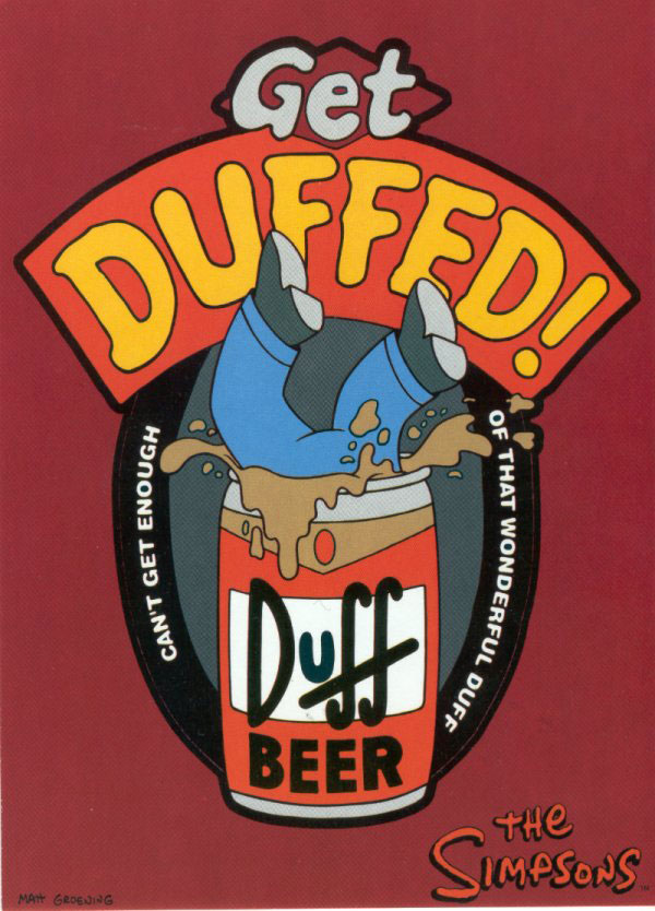 Duff Can with Homer Simpson inside