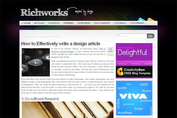 How to Effectively write a design article