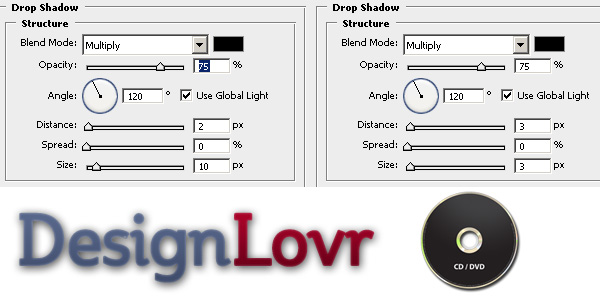 Drop Shadows with Photoshop's Blending Options - Example 2