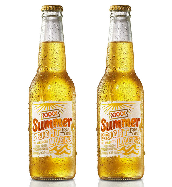 XXXX Summer Bright Lager Bottle