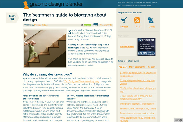 The beginner's guide to blogging about design