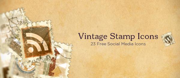 Vintage Stamps Social Media