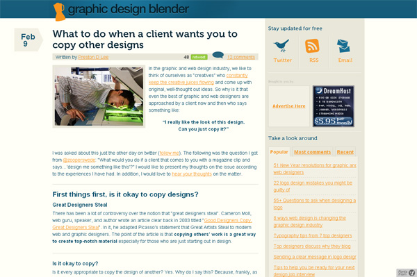 What to do when a client wants you to copy other designs