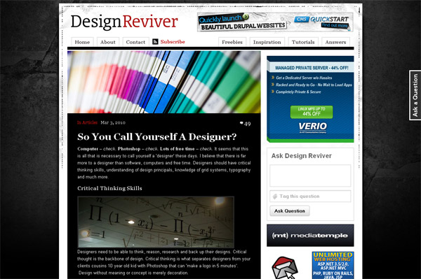 So You Call Yourself A Designer?