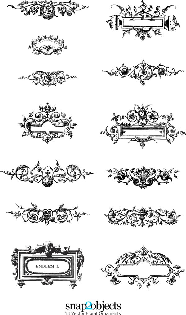 Floral Ornaments Pack