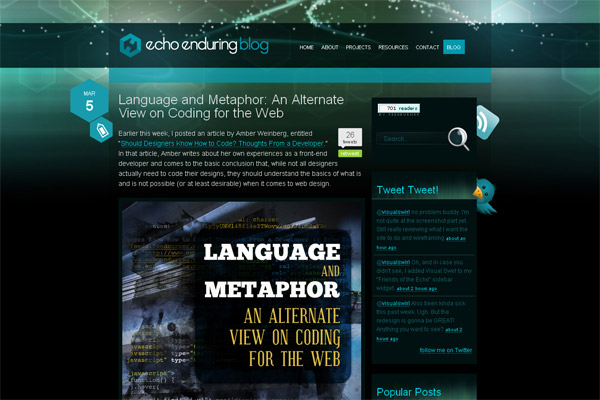 Language and Metaphor: An Alternative View on Coding for the Web