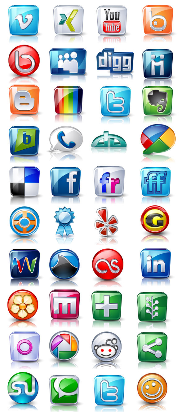 High Detaisl Social Icons